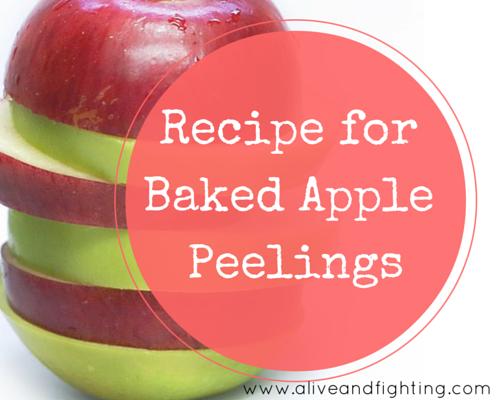Recipe for Baked Apple Peelings