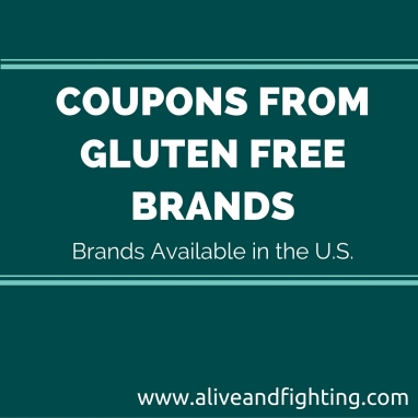 Gluten Free Brands That Ship in the U.S. Offering Coupons (Updated Each Week)